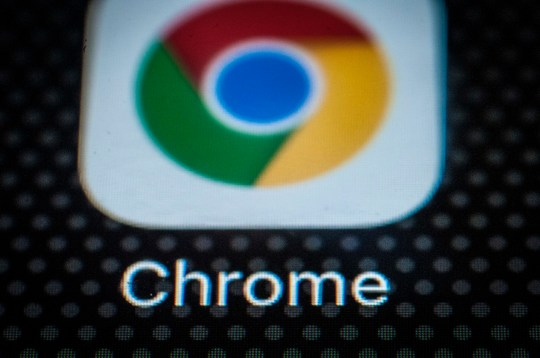 The Chrome browser app for mobile devices is seen on the screen of a portable device on December 6, 2017. (Photo by Jaap Arriens/Sipa USA)