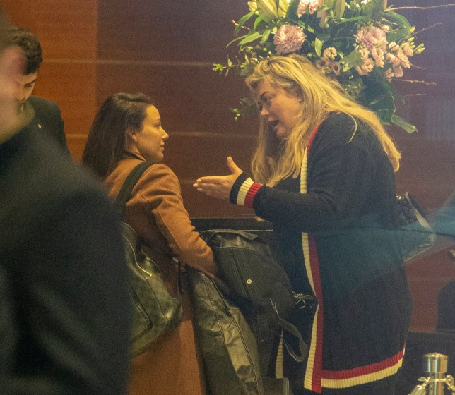 EXCLUSIVE: * Online Set Fee 200 GBP * * UK Mags Min Fee 200 GBP Per Pic - Double Fees Page 1 * Gemma Collins Gesticulates Wildly At Michelle Keegan. The Pair Were Seen Makeup Free As They Are Seen At Hotel Reception The Day After The NTA's. Pictured: Michelle Keegan,Gemma Collins Ref: SPL5057109 220119 EXCLUSIVE Picture by: SplashNews.com * Online Set Fee 200 GBP * * UK Mags Min Fee 200 GBP Per Pic - Double Fees Page 1 * Splash News and Pictures Los Angeles: 310-821-2666 New York: 212-619-2666 London: 0207 644 7656 Milan: 02 4399 8577 photodesk@splashnews.com World Rights