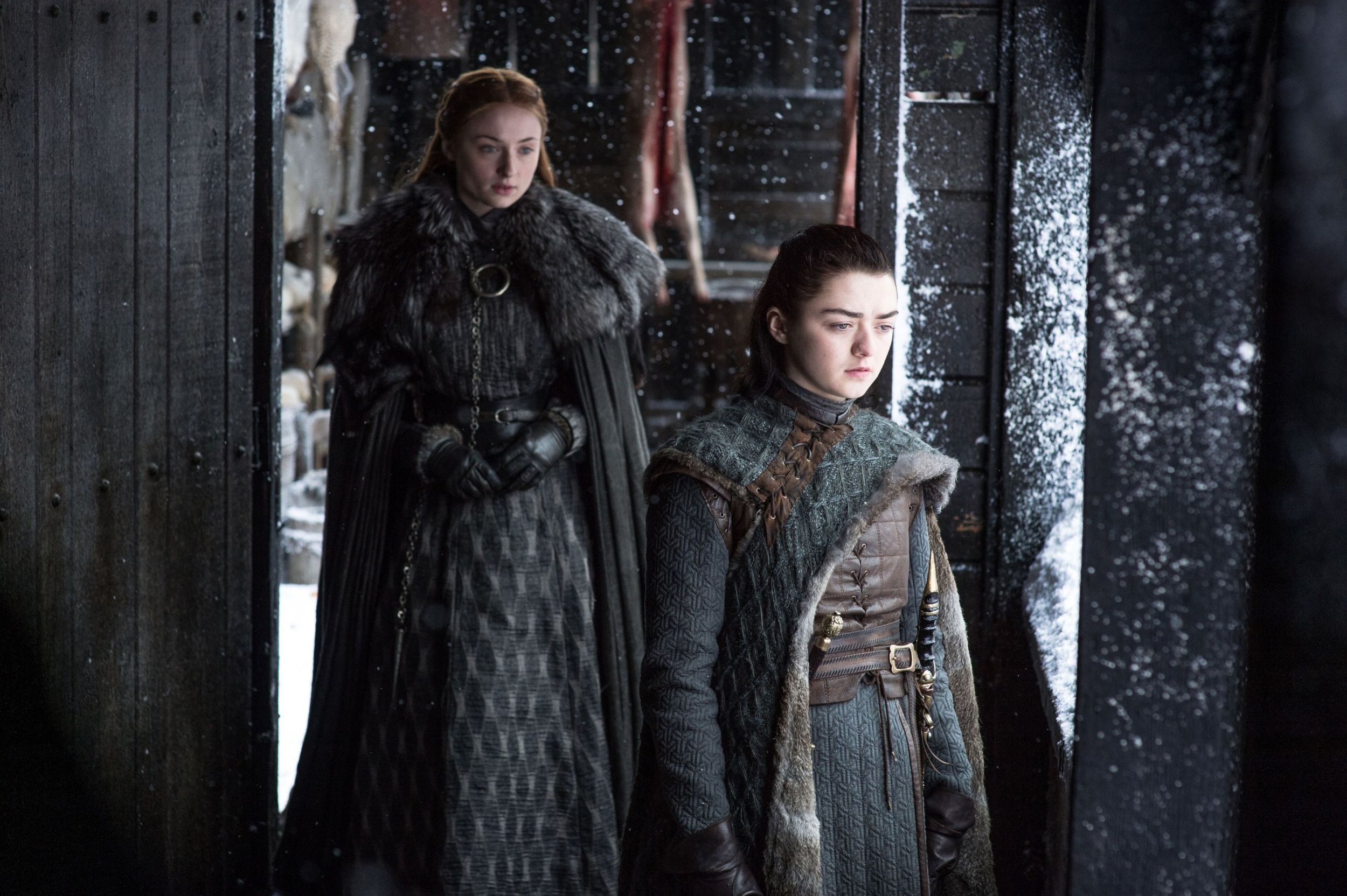 "Editorial use only. No book cover usage. Mandatory Credit: Photo by Hbo/Kobal/REX/Shutterstock (9036271fi) Sophie Turner, Maisie Williams ""Game Of Thrones"" (Season 7) TV Series - 2017"