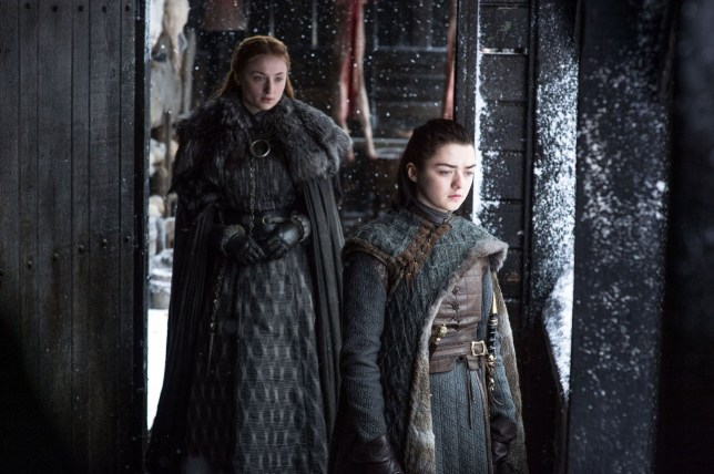 """Editorial use only. No book cover usage. Mandatory Credit: Photo by Hbo/Kobal/REX/Shutterstock (9036271fi) Sophie Turner, Maisie Williams """"Game Of Thrones"""" (Season 7) TV Series - 2017"""