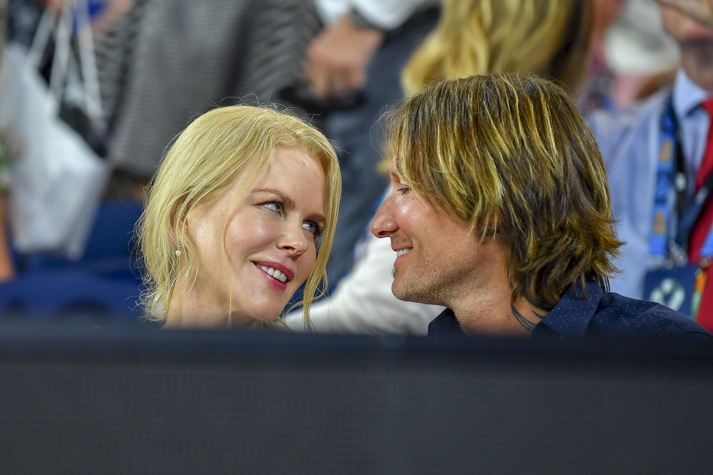 Nicole Kidman and husband Keith Urban share cute kiss at the Australian Open