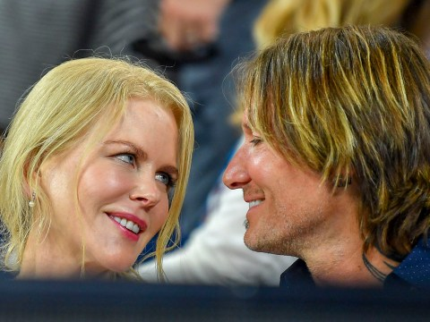 Nicole Kidman and husband Keith Urban share cute kiss at the Australian Open