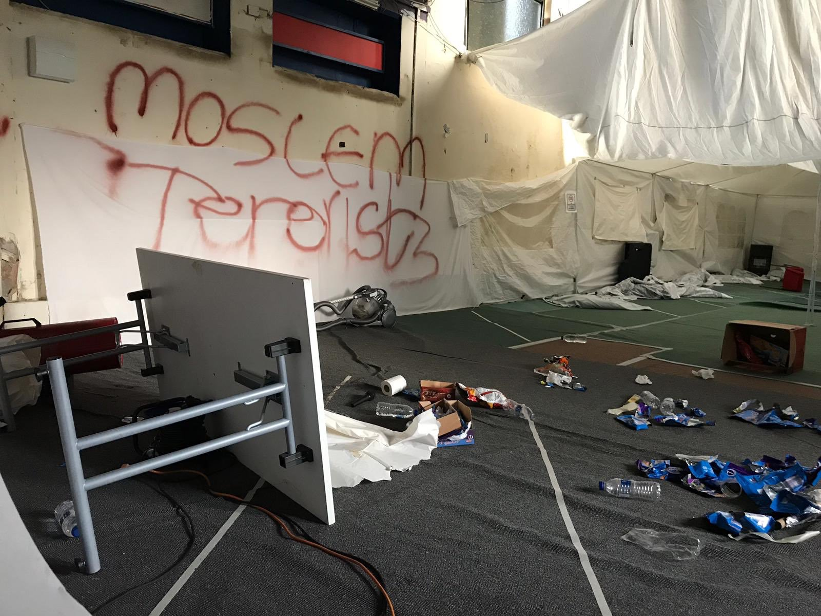 Centre used by young Muslims trashed with graffiti Picture: @dsahad metrograb https://twitter.com/dsahad/status/1088832406839353345