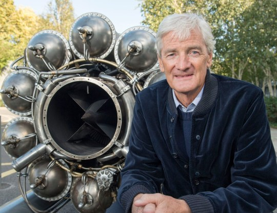 Mandatory Credit: Photo by Mark Large/ANL/REX/Shutterstock (9909938a) Sir James Dyson At The Dyson Technology Campus - Where The Dyson Institute Of Engineering And Technology Has Opened. He Is Pictured In Front Of A Frank Whittle Designed Jet Engine. Sir James Dyson At The Dyson Technology Campus - Where The Dyson Institute Of Engineering And Technology Has Opened. He Is Pictured In Front Of A Frank Whittle Designed Jet Engine.