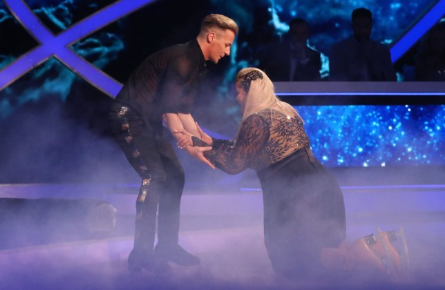 Editorial use only Mandatory Credit: Photo by Matt Frost/ITV/REX (10073862bz) Gemma Collins and Matt Evers 'Dancing on Ice' TV show, Series 11, Episode 4, Hertfordshire, UK - 27 Jan 2019
