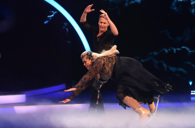 Editorial use only Mandatory Credit: Photo by Matt Frost/ITV/REX (10073862bx) Gemma Collins and Matt Evers 'Dancing on Ice' TV show, Series 11, Episode 4, Hertfordshire, UK - 27 Jan 2019