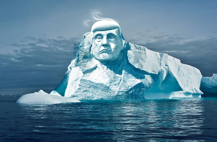 Activists want to carve Trump's face into glacier to show climate change is real