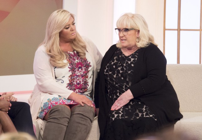 Editorial use only Mandatory Credit: Photo by S Meddle/ITV/REX/Shutterstock (5609595u) Gemma Collins and her mum Joan 'Loose Women' TV show, London, Britain - 04 Mar 2016