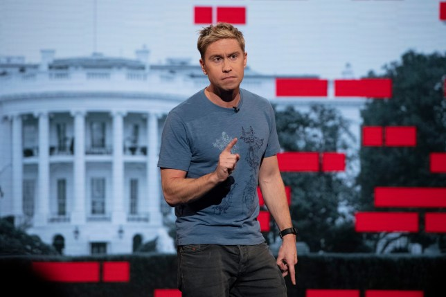 Russell Howard on stage