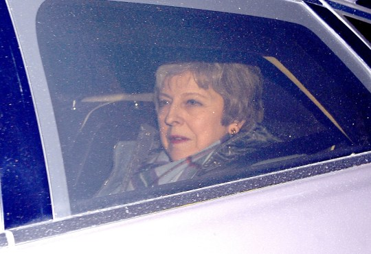 Prime Minister Theresa May leaves Downing Street, London, for the House of Commons to meet Conservative MPs ahead of tomorrow's Brexit vote. PRESS ASSOCIATION Photo. Picture date: Monday January 28, 2019. See PA story POLITICS Brexit. Photo credit should read: Kirsty O'Connor/PA Wire