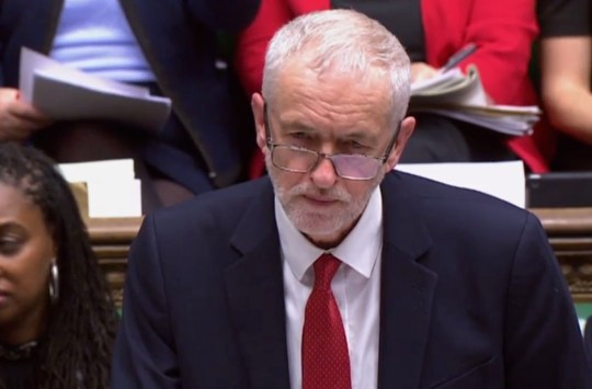 "A video grab from footage broadcast by the UK Parliament's Parliamentary Recording Unit (PRU) shows opposition Labour party leader Jeremy Corbyn speaking during a debate in the House of Commons in London on January 29, 2019. - British Prime Minister Theresa May will seek to renegotiate the EU divorce deal, her spokesman said Tuesday, ahead of crunch votes in parliament that could reset the course for Brexit. (Photo by HO / various sources / AFP) / RESTRICTED TO EDITORIAL USE - MANDATORY CREDIT "" AFP PHOTO / PRU "" - NO USE FOR ENTERTAINMENT, SATIRICAL, MARKETING OR ADVERTISING CAMPAIGNSHO/AFP/Getty Images"