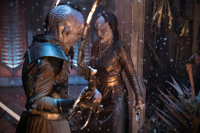 """""""Point of Light"""" -- Ep #203 - Pictured: Mary Chieffo as L?Rell of the CBS All Access series STAR TREK: DISCOVERY. Photo Cr: Michael Gibson/CBS ? 2018 CBS Interactive. All Rights Reserved."""