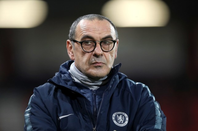 "Chelsea manager Maurizio Sarri before the Premier League match at the Vitality Stadium, Bournemouth. PRESS ASSOCIATION Photo. Picture date: Wednesday January 30, 2019. See PA story SOCCER Bournemouth. Photo credit should read: Andrew Matthews/PA Wire. RESTRICTIONS: EDITORIAL USE ONLY No use with unauthorised audio, video, data, fixture lists, club/league logos or ""live"" services. Online in-match use limited to 120 images, no video emulation. No use in betting, games or single club/league/player publications."