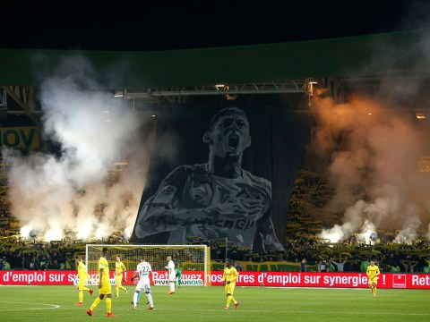 Nantes match stopped in ninth minute to pay emotional tribute to Emiliano Sala