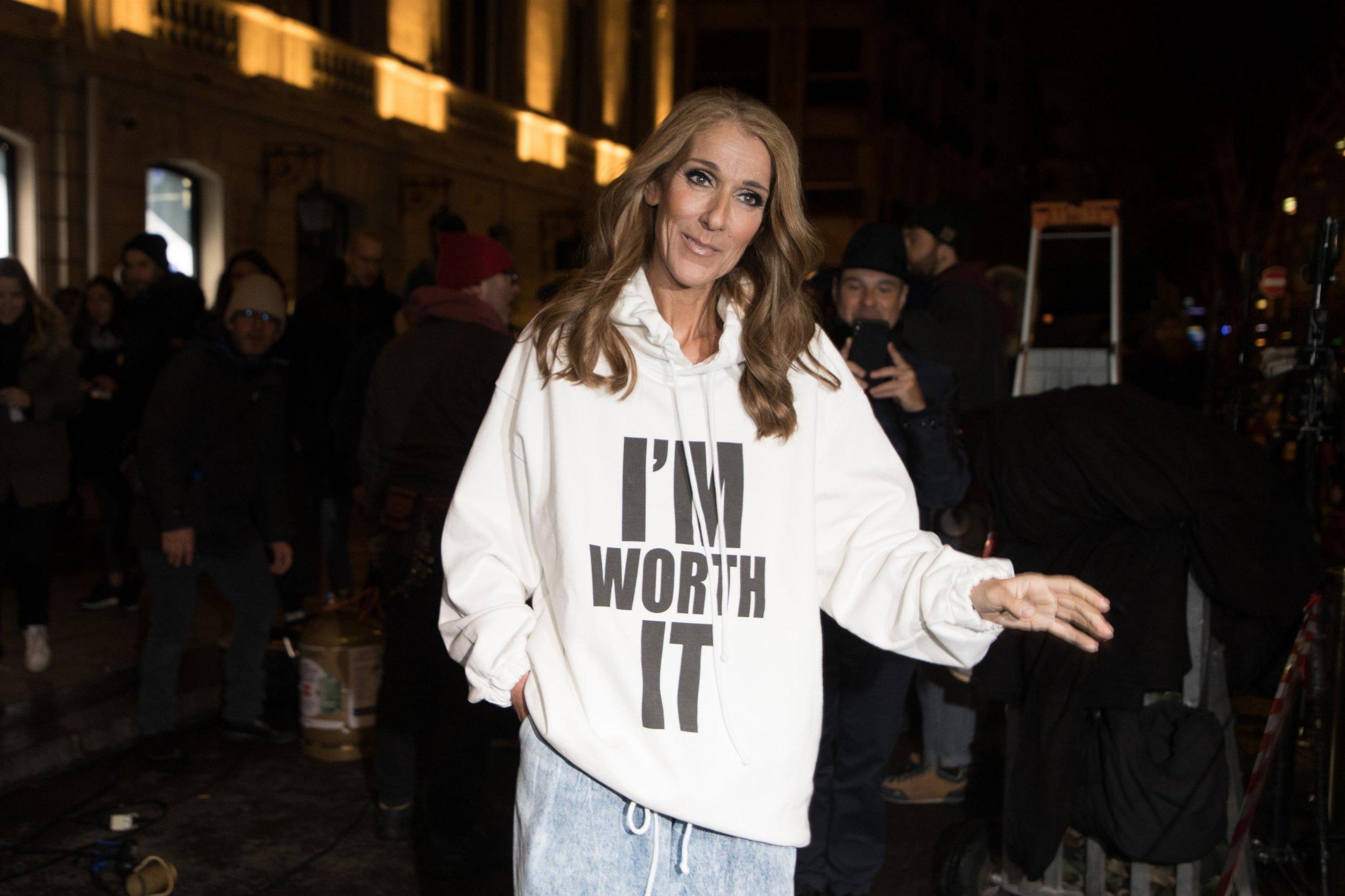 Celine Dion at L'oreal shoot in Paris