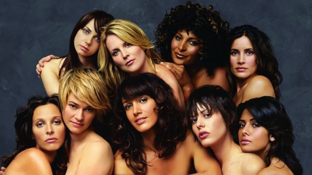 The L Word cast posing together naked