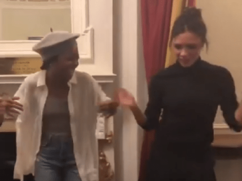 Victoria Beckham finds her inner diva and dances with Tina Turner cast backstage at West End musical