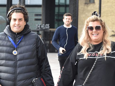 James Argent blocks out girlfriend Gemma Collins with massive headphones after hotel stay