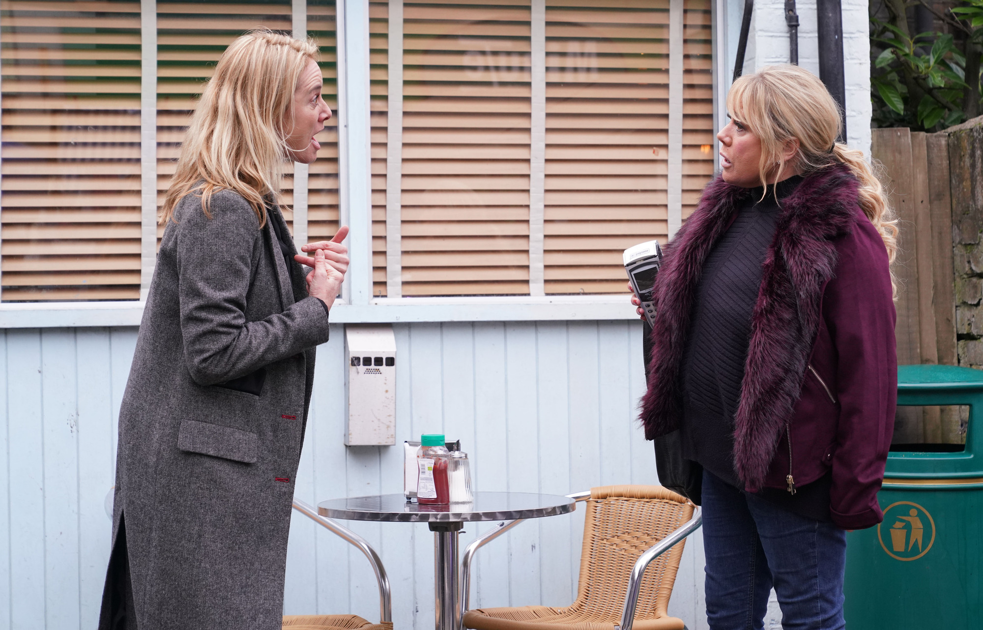 Mel and Sharon argue over Hunter in EastEnders