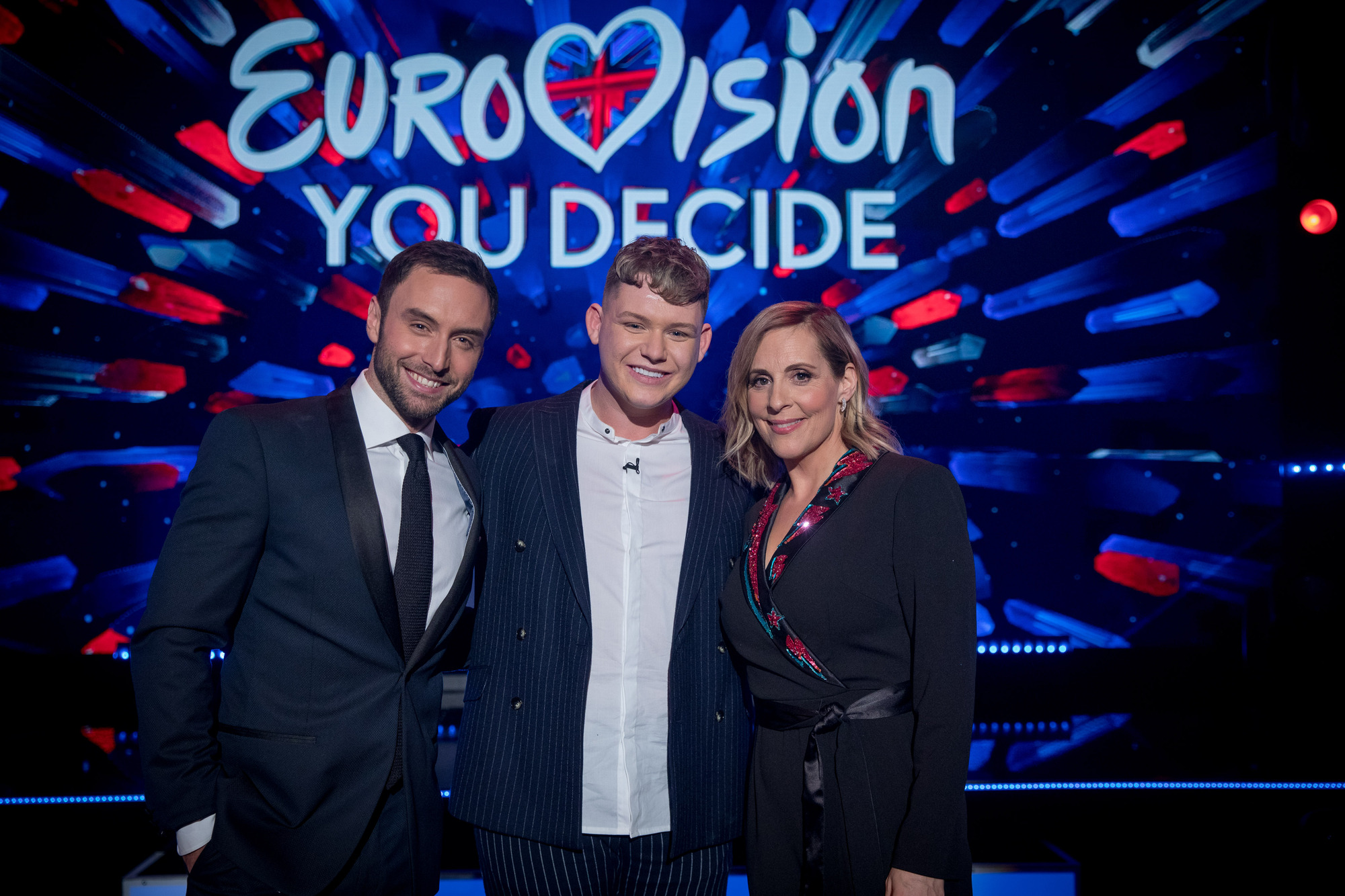 Mans Zelmerlow, Michael Rice and Mel Giedroyc for Eurovision: You Decide