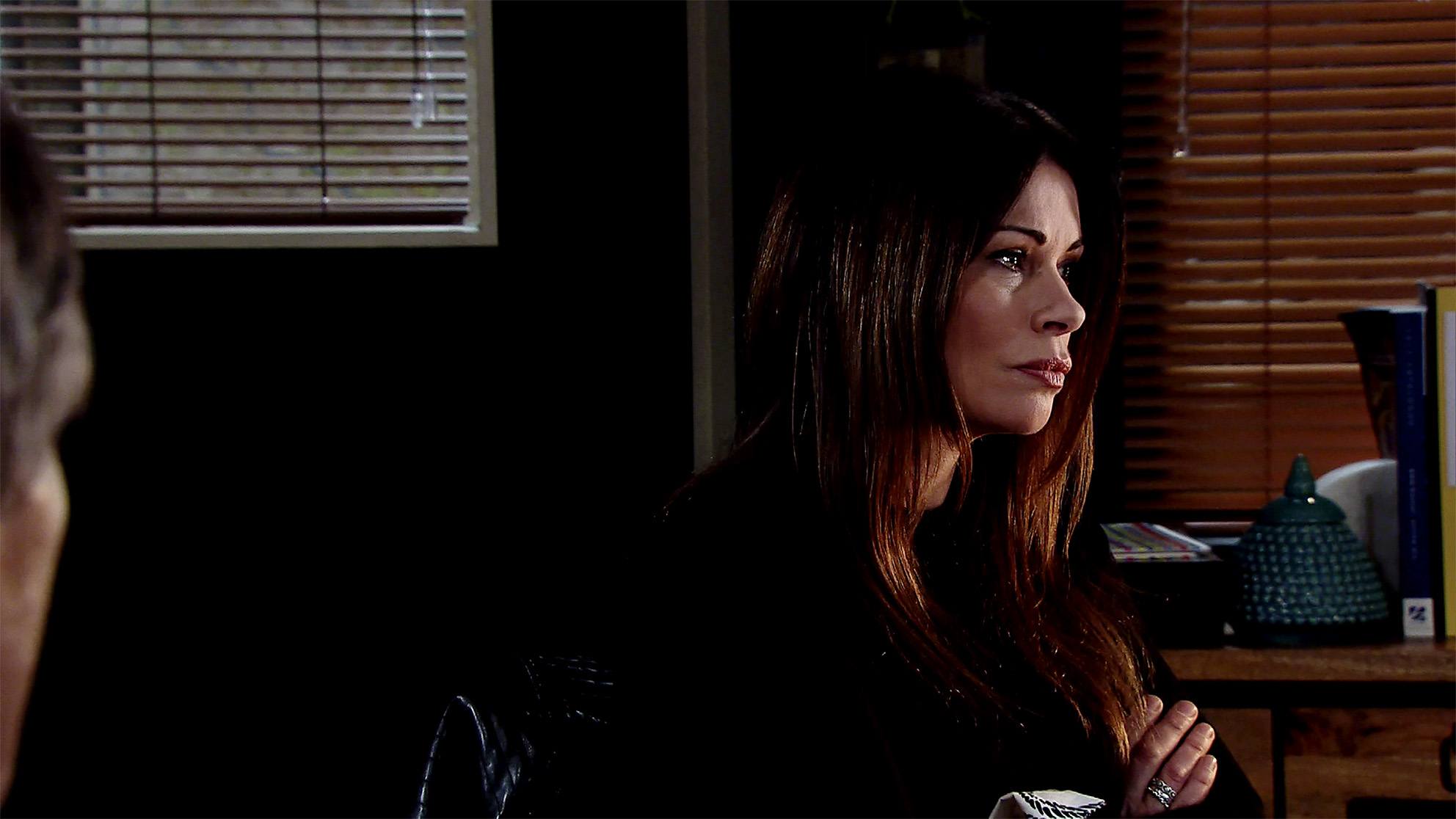 Roy presses Carla for information on the fire in Coronation Street
