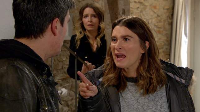 Debbie loses it with Cain in Emmerdale