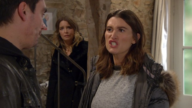 Debbie is furious with Cain in Emmerdale