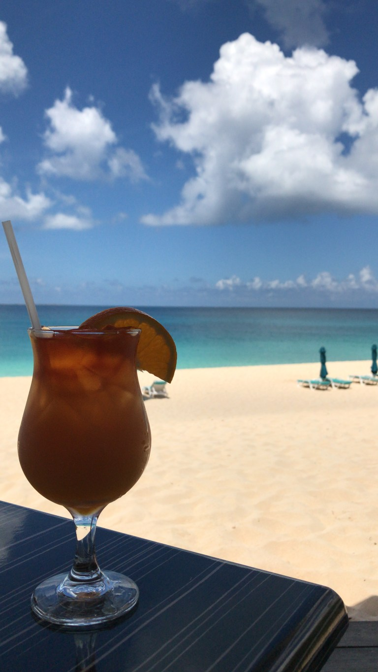 Classic Rum Punch on the beach is a must (Picture: Claire Rutter)