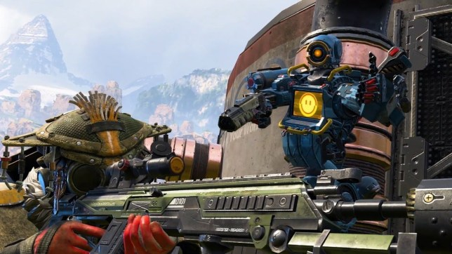 Apex Legends characters holding guns