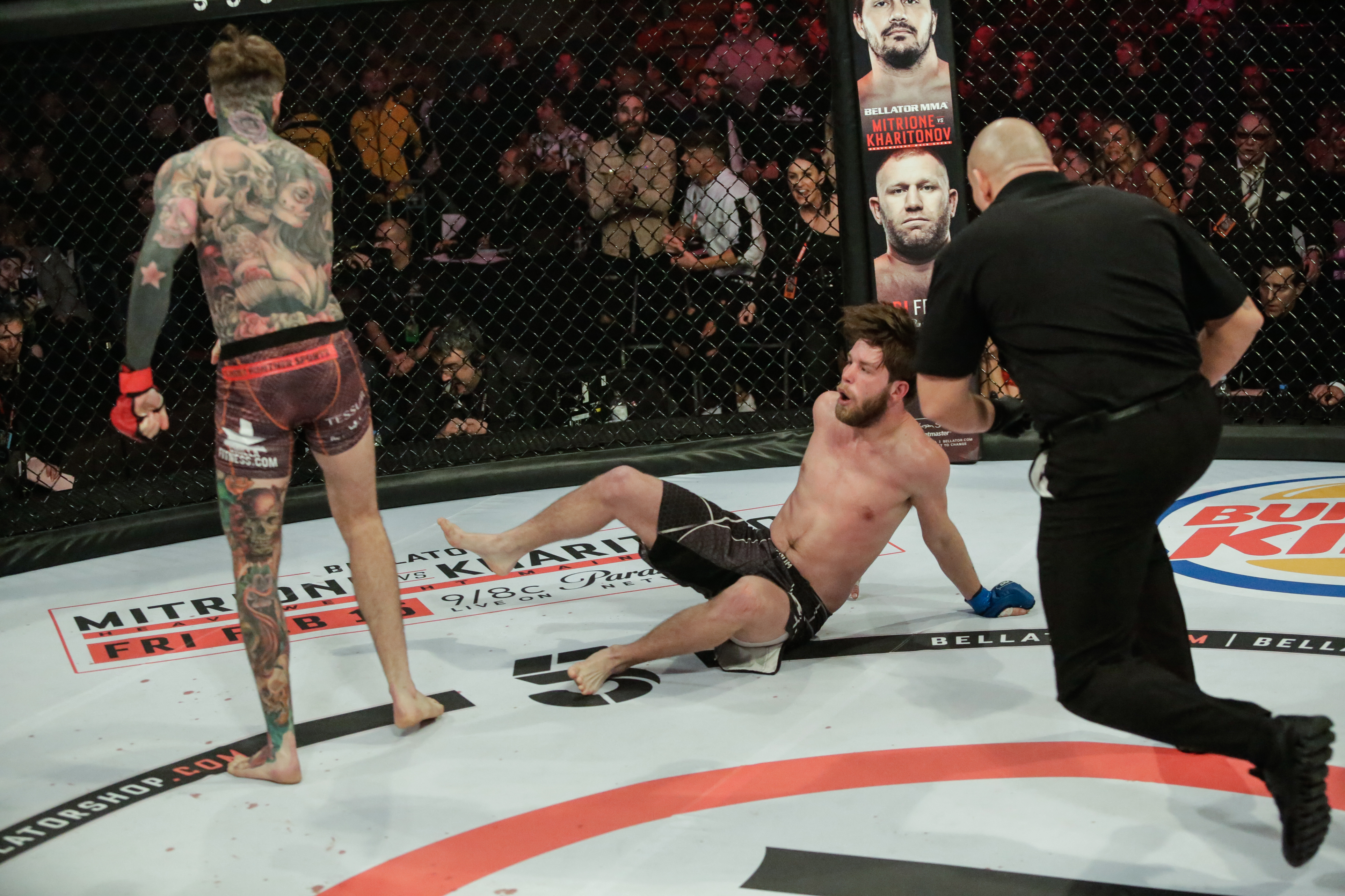 Aaron Chalmers suffers first MMA defeat at Bellator Newcatle