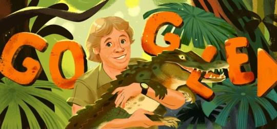The Google Doodle honoring Steve Irwin (Google)