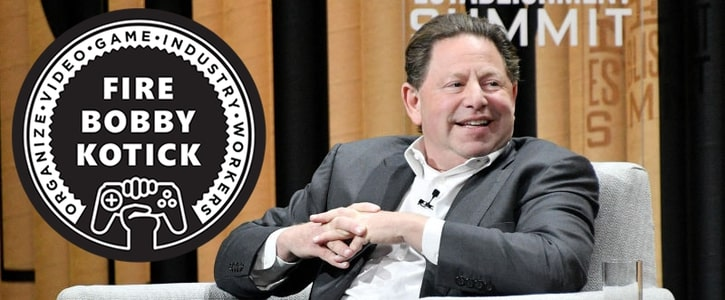 Bobby Kotick - not in much danger of losing his job (pic: Game Workers Unite)
