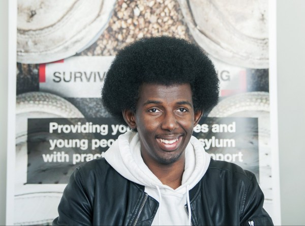 Firty Altoum, a Sudanese refugee who now works as a referee in the UK