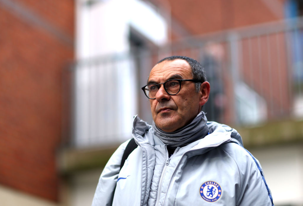 The Chelsea board were stunned by fans chanting 'f*** Sarri-ball' at Maurizio Sarri during Man Utd loss