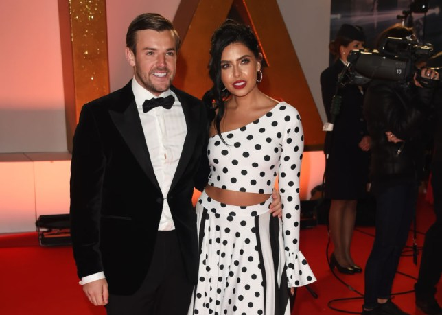 Love Island's Cara De La Hoyde and Nathan Massey pose together