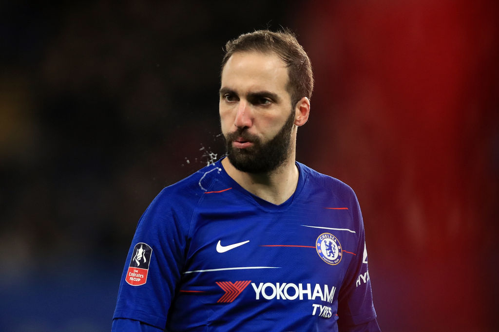 Gonzalo Higuain dropped by Maurizio Sarri for Chelsea v Man City Carabao Cup final