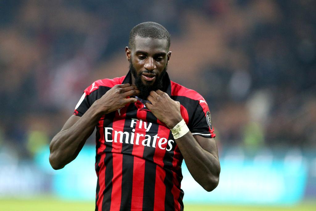 Tiemoue Bakayoko wearing an AC Milan home kit