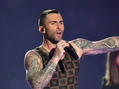'Why is Adam Levine wearing my curtains?' Maroon 5 frontman's choice of Super Bowl vest has quickly become a meme