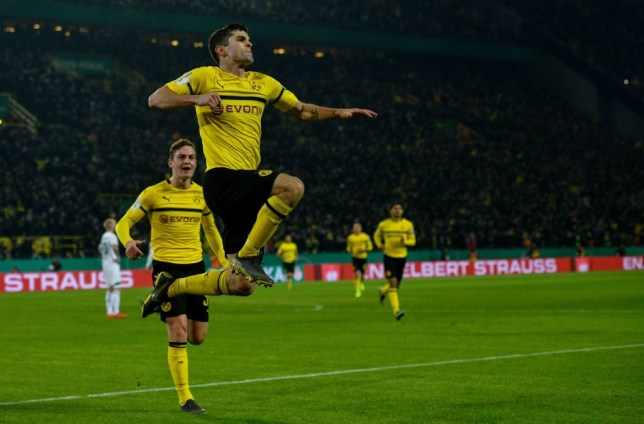 dc5827f9319 Chelsea loanee Christian Pulisic scores brilliant goal in German Cup  thriller