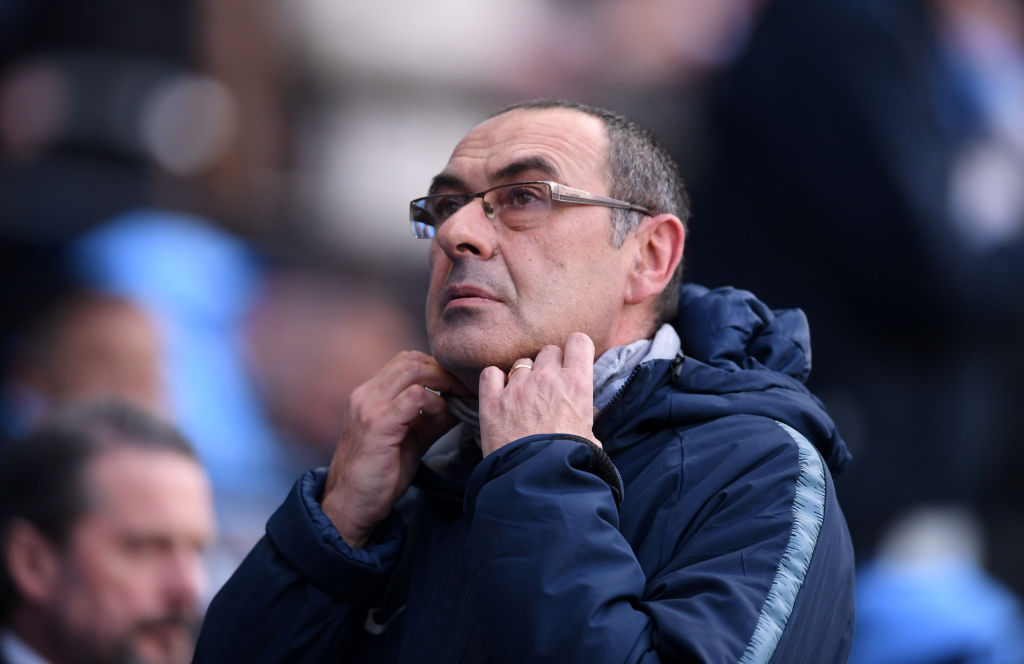 Maurizio Sarri aimed a little dig at Roman Abramovich after Chelsea's defeat