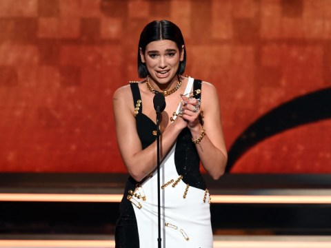 Dua Lipa tearfully accepts best new artist at Grammys 2019 after slaying One Kiss performance