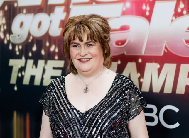 susan boyle at a press event for america's got talent the champions