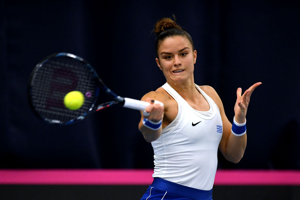 Maria Sakkari: Bath Fed Cup line judges are 'worst I've ever seen in my life'