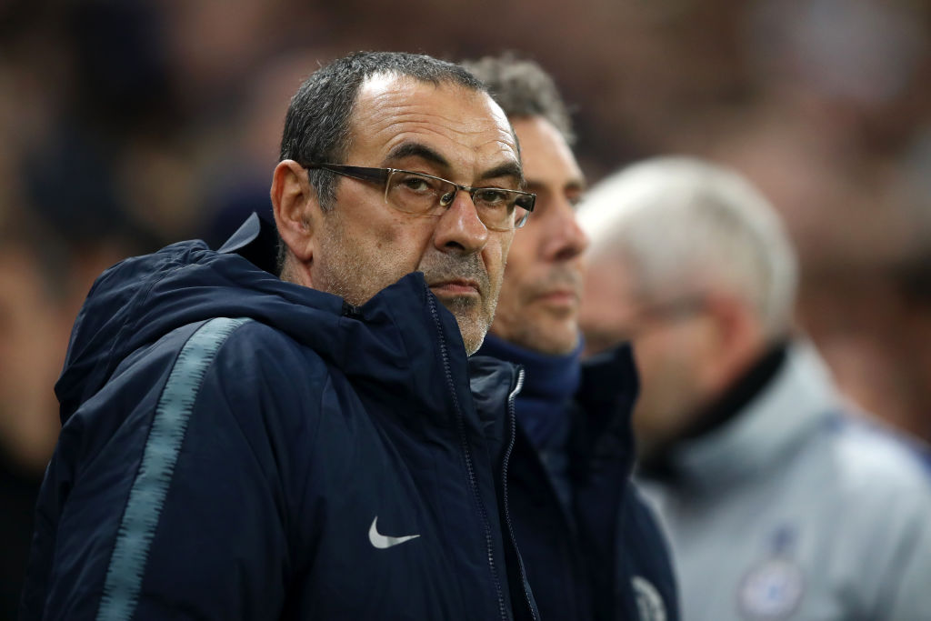 Maurizio Sarri has aimed a dig at Unai Emery and Arsenal to defend his Chelsea record