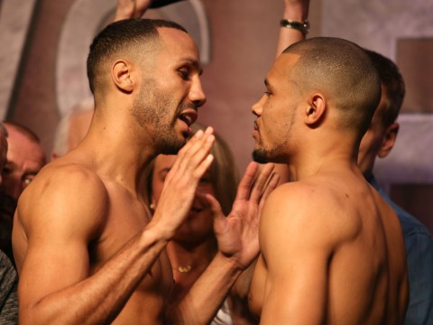 James DeGale lighter than Chris Eubank Jr ahead of domestic bust-up