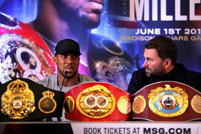 Anthony Joshua is scheduled to fight on June 1 at MSG