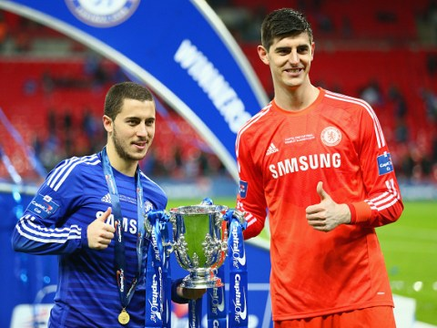 Thibaut Courtois wants Eden Hazard to leave Chelsea and join him at Real Madrid