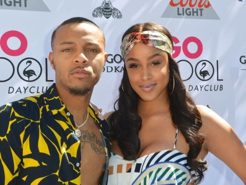 Bow Wow grabs girlfriend Leslie Holden's arm in elevator argument hours before arrest