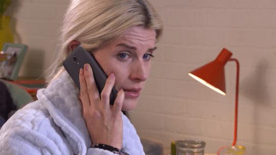 Mandy struggles in Hollyoaks
