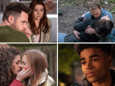 12 soap spoiler pictures: Coronation Street hostage stabbing, EastEnders death danger, Emmerdale comeback, Hollyoaks secret revealed